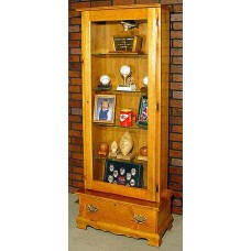 #1058 Solid Pine Display Cabinet