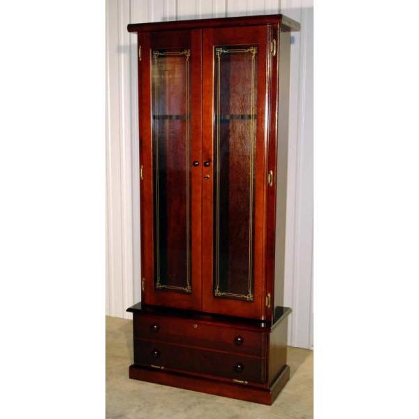 1119 Solid Pine 12 Gun Cabinet