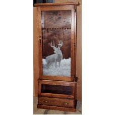#1608 Solid Pine Fully Assembled 8-Gun Cabinet