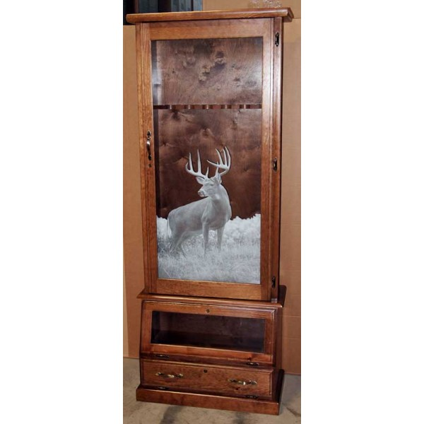 1608 Solid Pine Fully Assembled 8 Gun Cabinet
