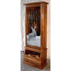 #1612w Premium Solid Black Walnut 12-Gun Cabinet