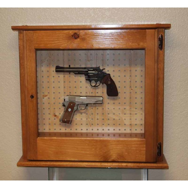 #620 Pine Pistol Cabinet