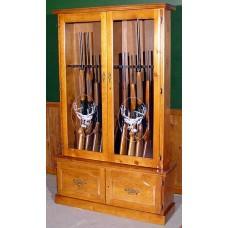 #712 Solid Pine 12-Gun Cabinet