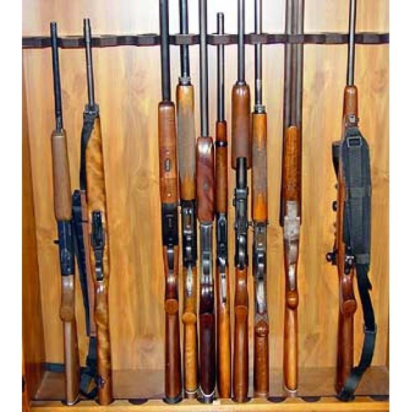 #720 20 Gun Cabinet Solid Pine