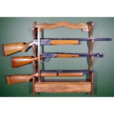 #845 Solid American Black Walnut  4-Gun Rack