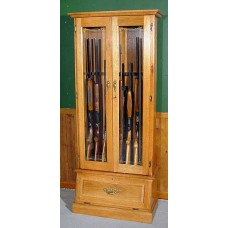 #908 Oak 8-Gun Cabinet
