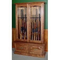 #912 Premium Solid Black Walnut 12-Gun Cabinet