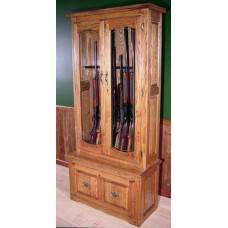 #940 Solid Oak 10-Gun Premium Cabinet
